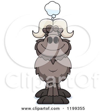 Cartoon of a Dreaming Ox - Royalty Free Vector Clipart by Cory Thoman