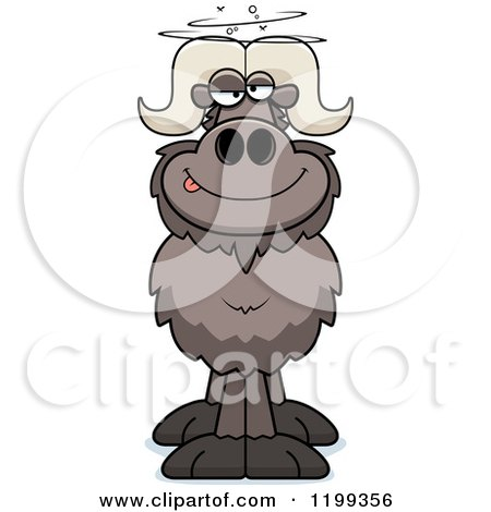 Cartoon of a Drunk Ox - Royalty Free Vector Clipart by Cory Thoman