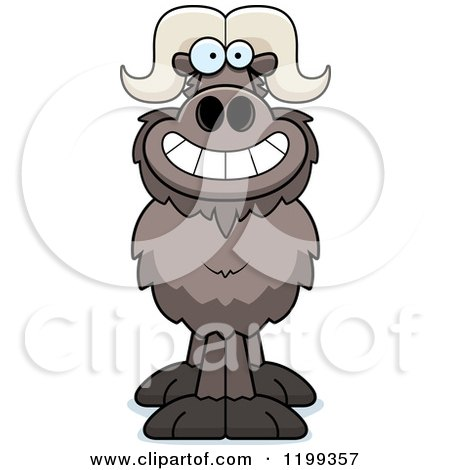 Cartoon of a Grinning Ox - Royalty Free Vector Clipart by Cory Thoman