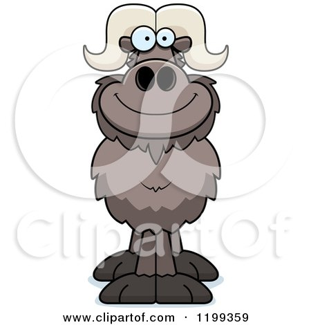Cartoon of a Happy Smiling Ox - Royalty Free Vector Clipart by Cory Thoman