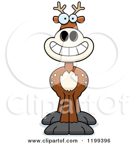 Cartoon of a Grinning Deer - Royalty Free Vector Clipart by Cory Thoman