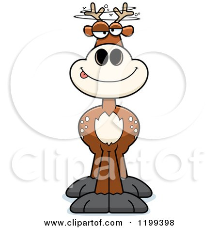 Cartoon of a Drunk Deer - Royalty Free Vector Clipart by Cory Thoman