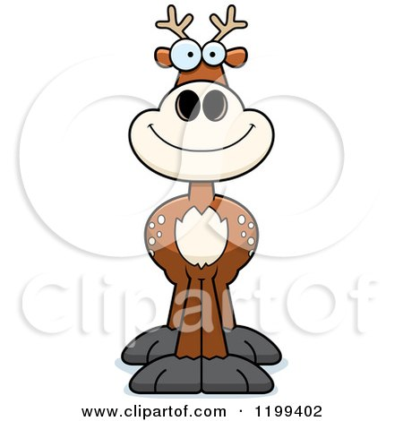 Cartoon of a Happy Smiling Deer - Royalty Free Vector Clipart by Cory Thoman