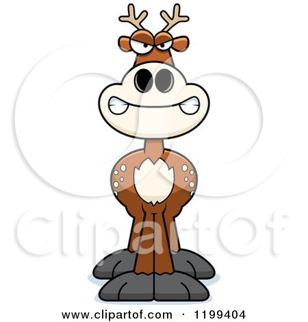 Cartoon of a Mad Deer - Royalty Free Vector Clipart by Cory Thoman