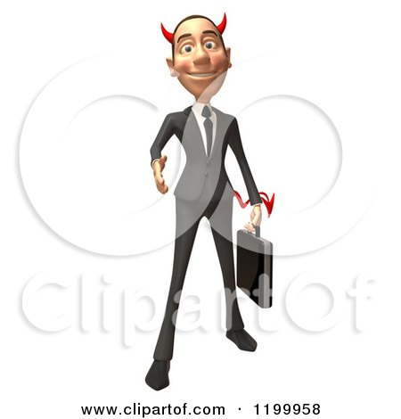 3d Con Artist Business Man Reaching out to Shake Hands Posters, Art Prints