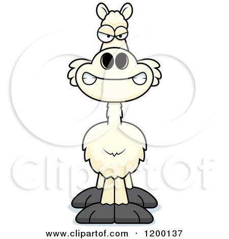 Cartoon of a Mad Llama - Royalty Free Vector Clipart by Cory Thoman