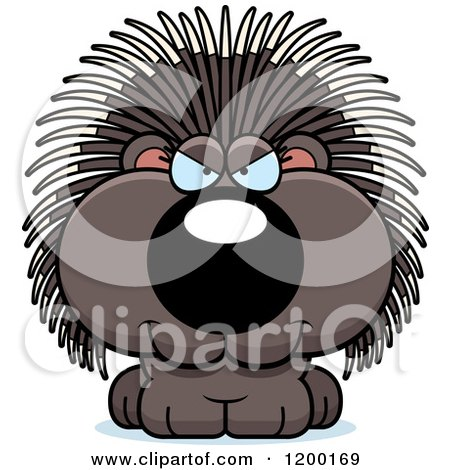 Cartoon of a Sly Porcupine Porcupet - Royalty Free Vector Clipart by Cory Thoman