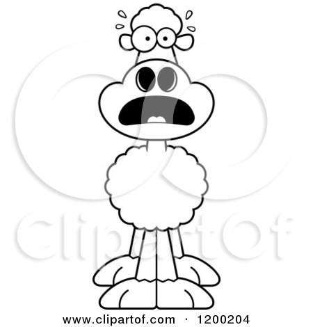 RoyaltyFree RF Scared Sheep Clipart Illustrations Vector Graphics 1