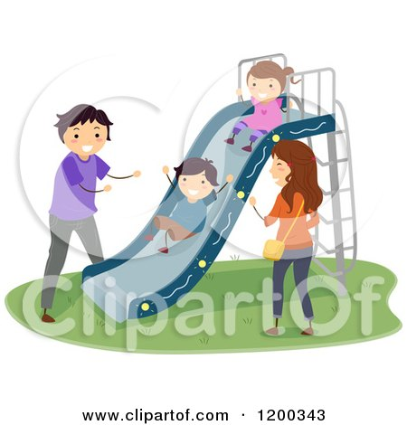 Family Playing Together Clipart Happy Family Playing At A