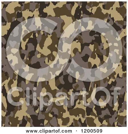 Clipart of a Seamless Brown Army Camouflage Pattern - Royalty Free Vector Illustration by Arena Creative