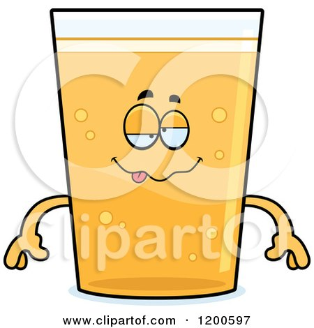 Cartoon of a Drunk Beer Mascot - Royalty Free Vector Clipart by Cory Thoman