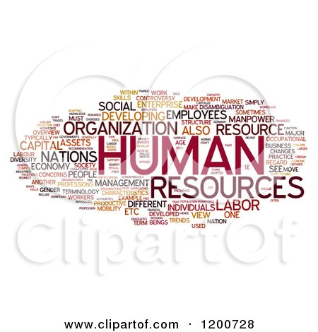 Clipart of a Human Resources Word Collage on White - Royalty Free Illustration by MacX