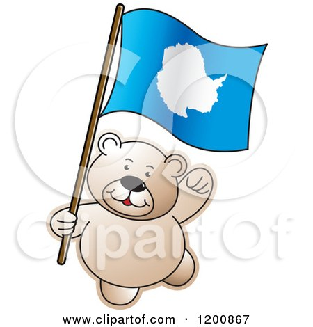 Cartoon of a Teddy Bear with an Iceland Flag - Royalty Free Vector Clipart by Lal Perera