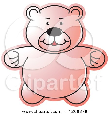 Cartoon of a Pink Teddy Bear - Royalty Free Vector Clipart by Lal Perera