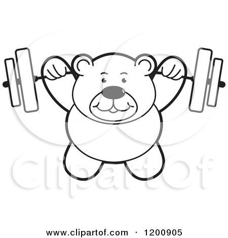 weightlifting coloring pages - preview clipart