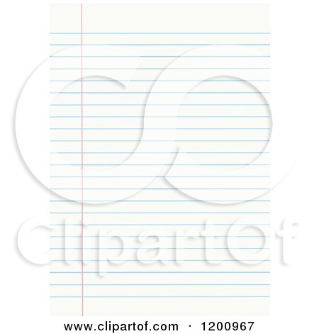 Clipart of Blank Sheet of Ruled Notebook Paper - Royalty Free Vector Illustration by yayayoyo