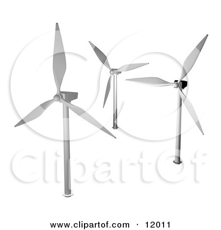Three Turbines Clipart Illustration by AtStockIllustration