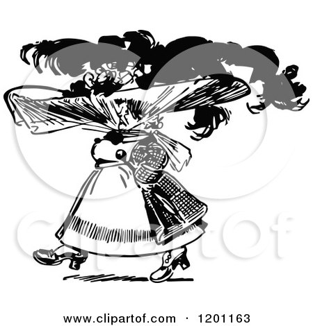Free Clipart Black Women Wearing Hats Clipart of a Vin...