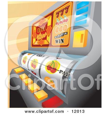 Casino Slot Machine in Las Vegas Clipart Illustration by AtStockIllustration