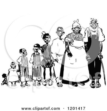 Royalty-Free (RF) Black Family Clipart, Illustrations, Vector ...