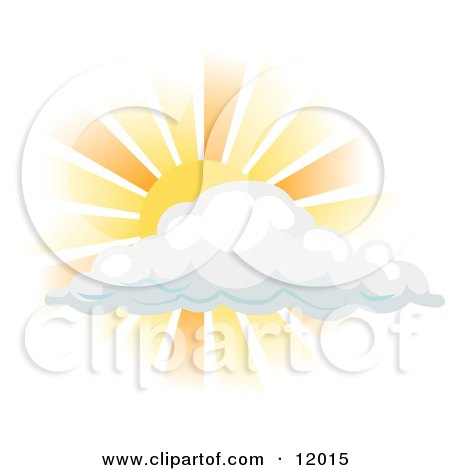 Sun Shining Behind a Cloud Posters, Art Prints