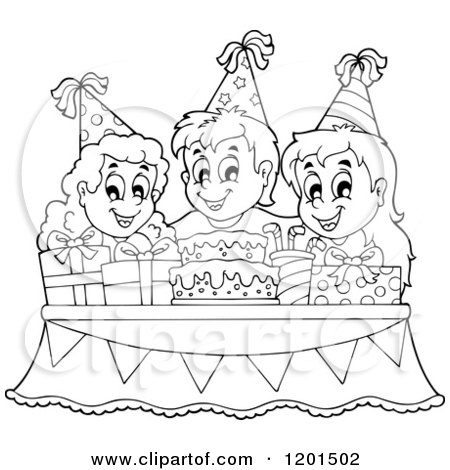 Royalty Free RF Childrens Birthday Party Clipart Illustrations