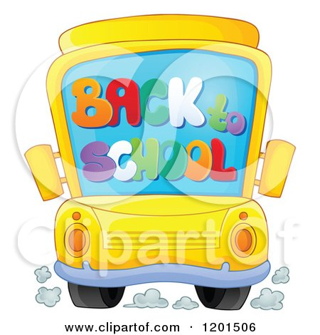 Clipart of a Brunette White Boy Boarding a School Bus - Royalty ...