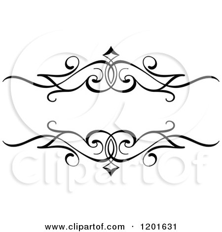 Clipart of a Vintage Black and White Ornate Frame - Royalty Free Vector Illustration by Vector Tradition SM