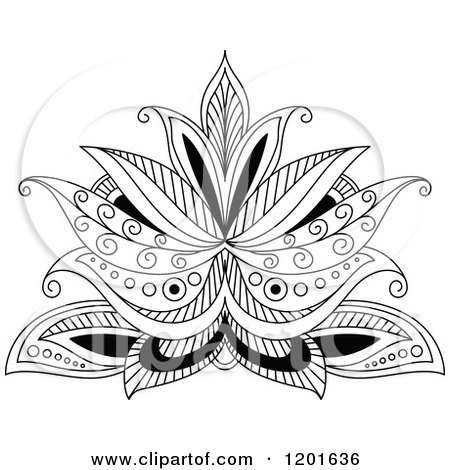 Henna Owl Coloring Pages Black And White Henna
