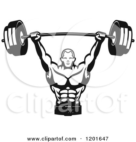 Royalty Free Bodybuilding Illustrations by Vector Tradition SM Page 1