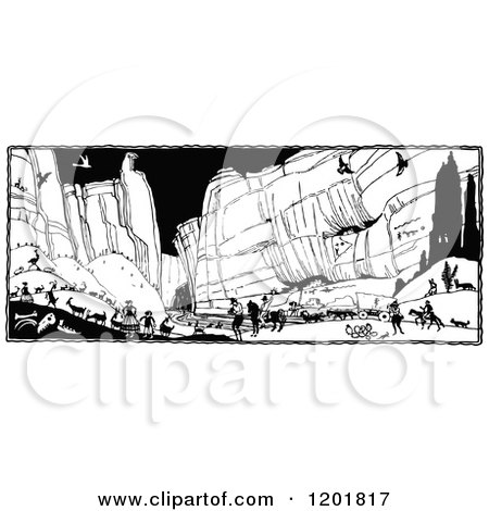 Royalty-Free (RF) Canyon Clipart, Illustrations, Vector Graphics #1