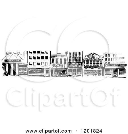 Storefront Illustration Black And White