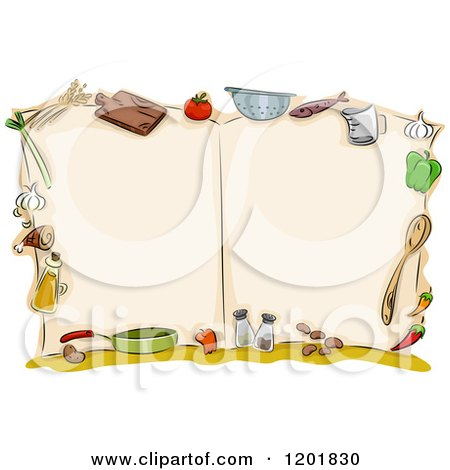 Royalty-Free (RF) Cook Book Clipart, Illustrations, Vector ...
