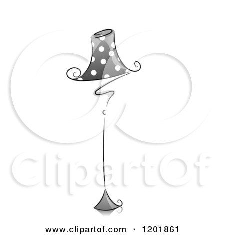 Clipart of a Grayscale Lamp - Royalty Free Vector Illustration by BNP Design Studio