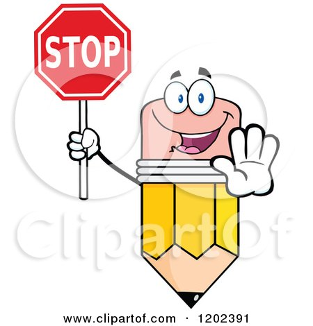 Royalty-Free (RF) Stop Sign Clipart, Illustrations, Vector Graphics #6