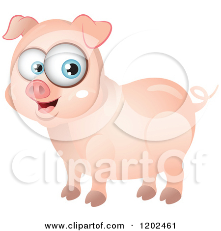 Royalty-Free (RF) Pig Clipart, Illustrations, Vector ... Cute Cartoon Pigs With Big Eyes