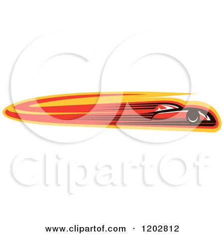 Clipart of a Fast Red Race Car with Speed Lines - Royalty Free Vector Illustration by Vector Tradition SM