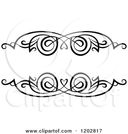 Clipart of a Vintage Black and White Ornate Frame 3 - Royalty Free Vector Illustration by Vector Tradition SM