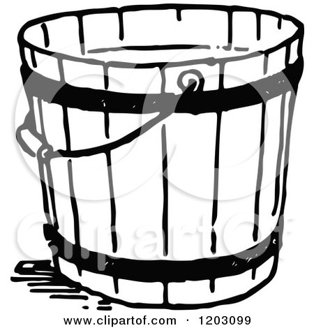 Vintage Black And White Bucket 1203099 on industrial cleaning cartoon