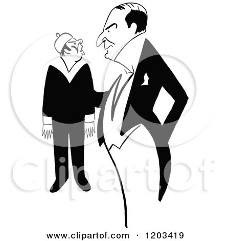 Cartoon of a Vintage Black and White Caricature of Marshall Montgomery - Royalty Free Vector Clipart by Prawny Vintage