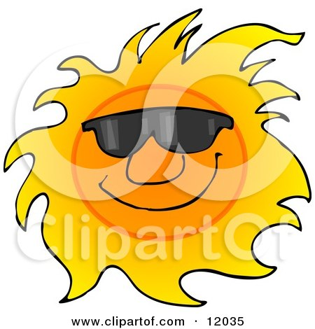 Happy Sun Wearing Shades Cartoon Clipart by djart