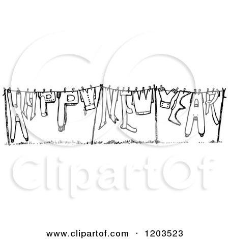 Royalty Free New Year Illustrations by Prawny Vintage Page 1