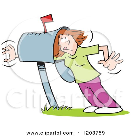 Caucasian Woman Reaching Beyond Her Mailbox in Hopes of Correspondence Posters, Art Prints