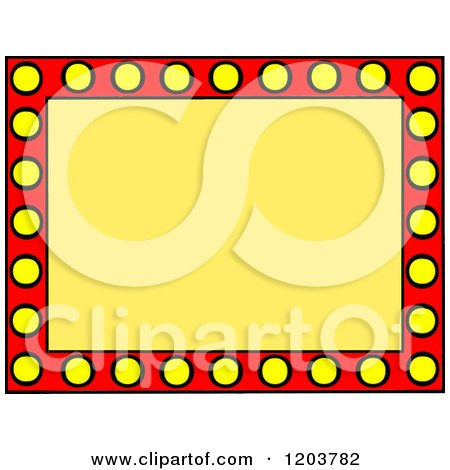 cartoon of a red and yellow marquee sign with text space royalty rh clipartof com marquee clip art free marquee clipart free