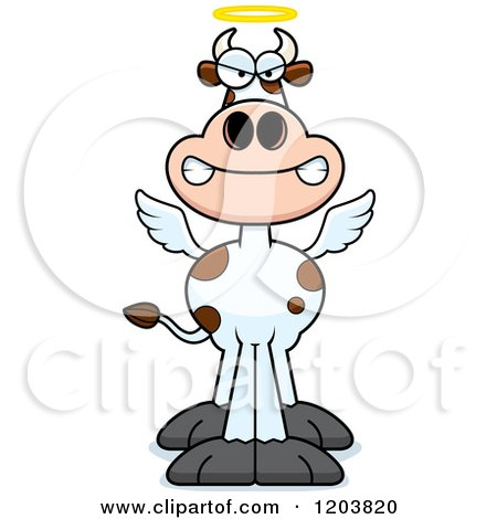 Cartoon of a Mad Holy Cow - Royalty Free Vector Clipart by Cory Thoman
