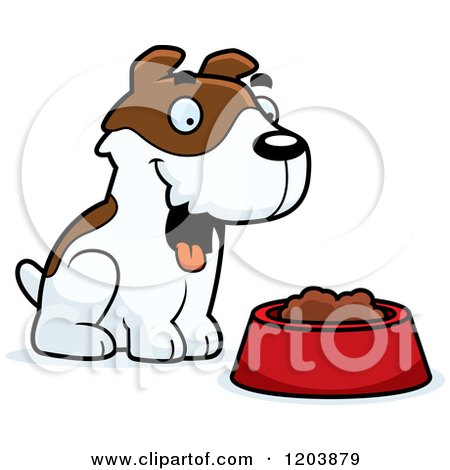 Cartoon of a Cute Jack Russell Terrier Puppy Sitting - Royalty Free Vector Clipart by Cory Thoman