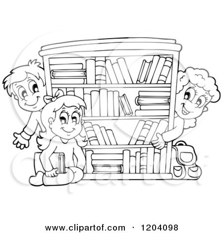 Royalty Free Library Book Illustrations by visekart Page 1
