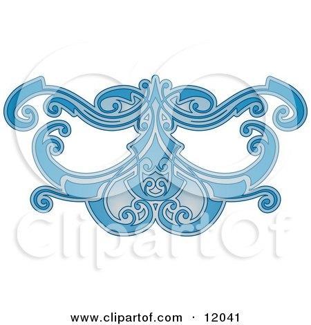 Blue Eye Mask Pattern Clipart Picture by AtStockIllustration