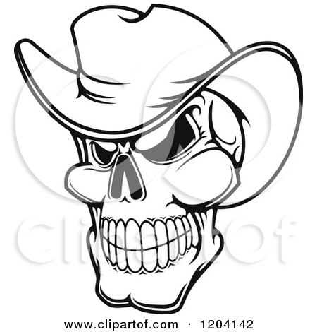 Skull With Cowboy Hat Drawing Skull With Cowboy Hat Drawing