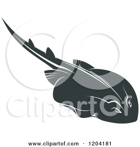Clipart of a Swimming Stingray Fish 4 - Royalty Free Vector Illustration by Vector Tradition SM